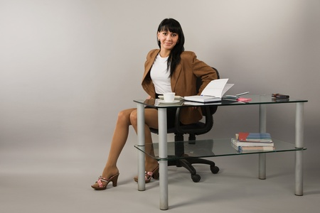 Portrait of the business woman in a office Stock Photo - 9058373