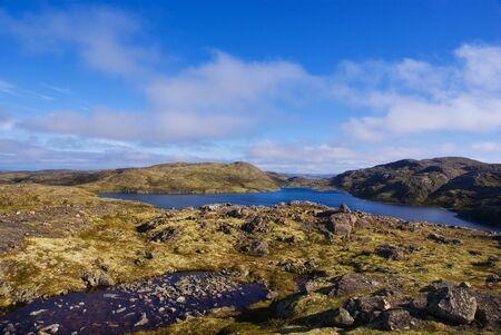 cusp: Landscape of Musta Tunturi. Ridge on the Kola Peninsula, Arctic Russia