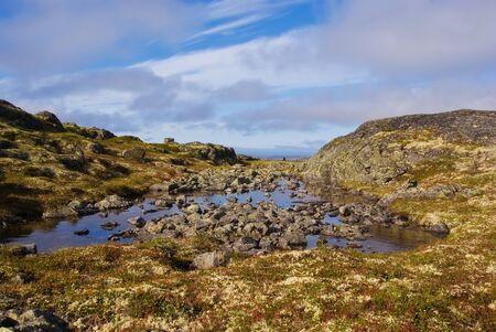 cusp: Landscape of  Musta Tunturi. Ridge on the Kola Peninsula, Russia