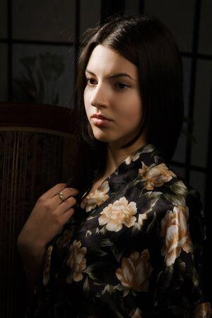 Portrait of the attractive pretty lady  photo
