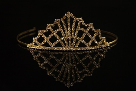 Diadem on a black background with reflexion    photo