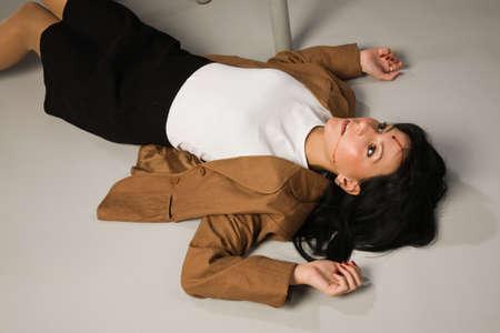 Crime scene in a office with dead secretary Stock Photo - 9137475