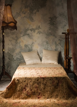 Elegant bedroom interior in the vintage style photo