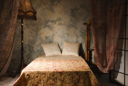 Refined bedroom interior in the vintage style Stock Photo - 9137769