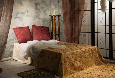Elegant bedroom interior in the vintage style Stock Photo - 9137793