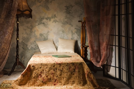 Refined bedroom interior in the vintage style Stock Photo - 9137790