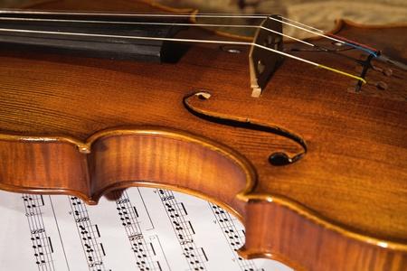 concerto: Imagen de primer plano de la partitura de camas de viol�n italiano antiguo