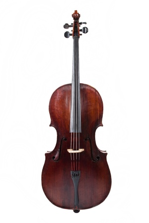 Picture of the cello on a white background Stock Photo - 9780530
