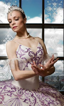 Portrait of the ballerina in ballet pose Stock Photo - 10014539
