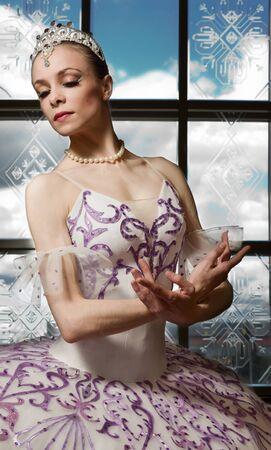 Portrait of the ballerina in ballet pose Stock Photo - 10014539