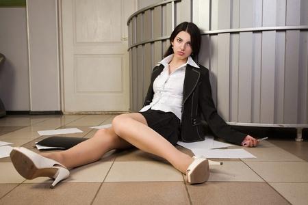 Crime scene in a office with dead secretary Stock Photo - 11432973