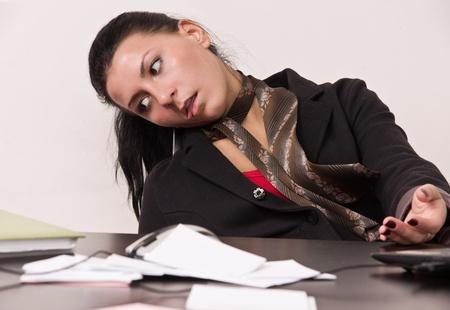 Crime scene simulation: dead secretary in a office Stock Photo - 12542702
