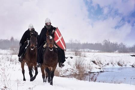 中世聖ヨハネ騎士団 (Hospitallers) に乗って湾の馬します。
