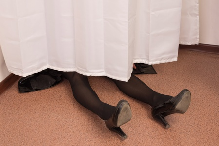 Crime scene imitation. Legs of the victim Stock Photo - 13761632