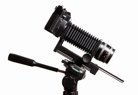 bellows: Old-fashioned bellows camera with extension