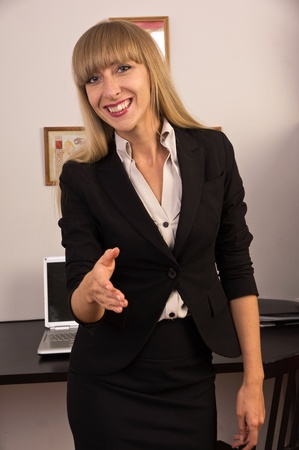 Portrait of the confident attractive business woman  Stock Photo - 15134721