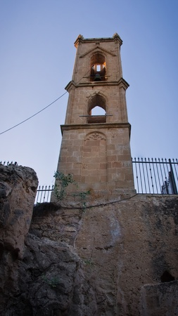 Bell tower in Agia Napa Medieval Monastery, Cyprus photo