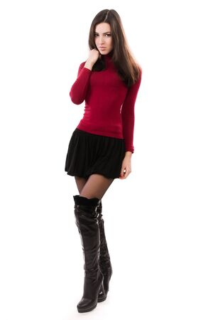 Fashionable casual girl over white Stock Photo - 16880240