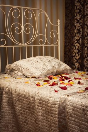 Old style bed in the elegant bedroom Stock Photo - 16884027