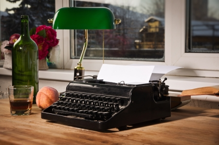 Vintage still life with old typewriter Stock Photo - 17499868