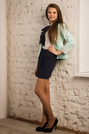 Pretty and confident business woman in a office  版權商用圖片
