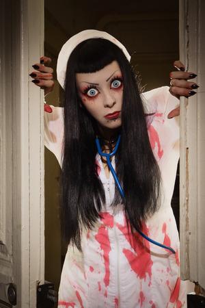 Crazy dead nurse in an abandoned hospital