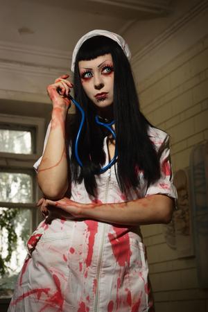 sadistic: Crazy dead nurse in an abandoned hospital
