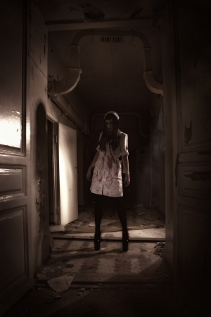 psychotic: Crazy dead nurse in an abandoned hospital