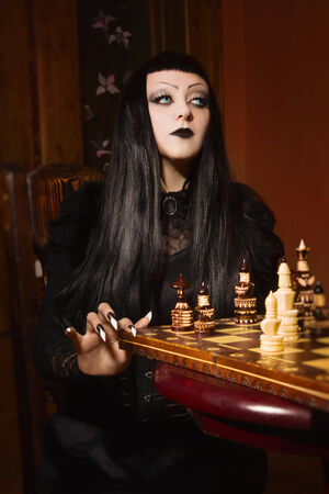 Death plays chess   photo