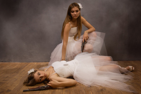Duel of the two brides  photo
