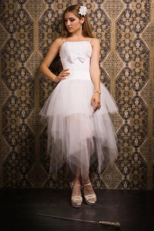 Bride holding broadsword  photo