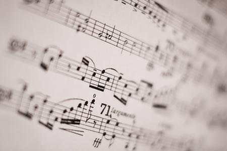 musical score: Closeup picture of musical score