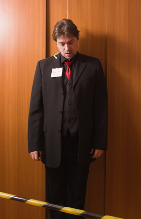 Corpse of hanged business man
