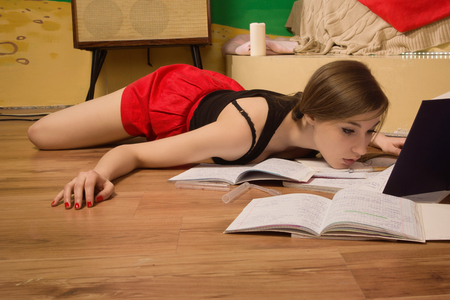 swooned: Crime scene simulation. Body of the lifeless college girl