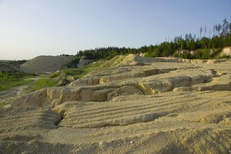 sand quarry: Summer landscape abandoned sand quarry