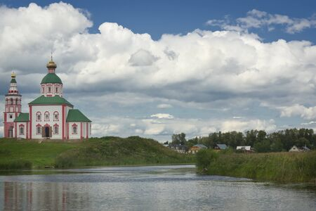 russian orthodox: Russian orthodox church in Suzdal, view from river
