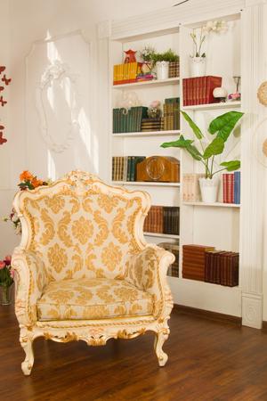 boudoir: Boudoir. Luxurious interior in the vintage style Stock Photo