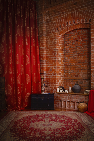 boudoir: Boudoir. Luxurious interior in the oriental style Stock Photo