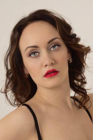 boudoir: Sexual woman in lingerie posing in a boudoir