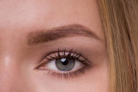 green eye: Green Eye Makeup. Eyes Make-up. Beautiful Eyes Make up detail.