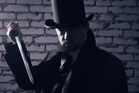 ripper: Jack Ripper. Maniac attacked with a knife on the victim