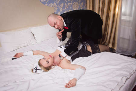 An angry guest in a hotel room and an annoying maid who he strangled