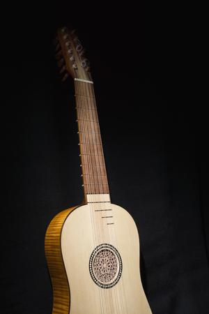 Vihuela de mano of the 16th century. Close-up details