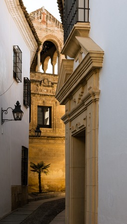 Typical street of Jewish quarter of Cordoba, Andalusia, Spain Standard-Bild