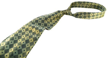 male green necktie tied knot  Stock Photo