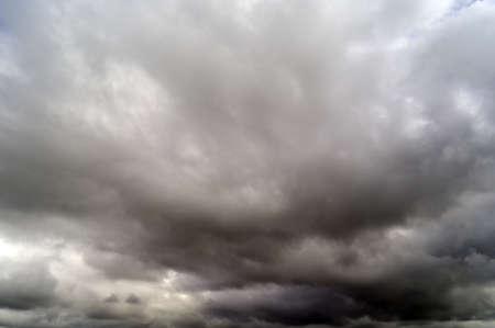 dreary: gray overcast sky