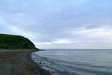 Coast of the Okhotsk Sea  Stock Photo