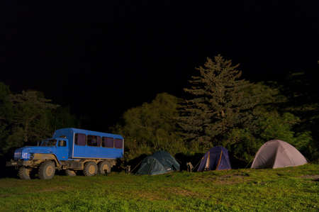 Dark night in the tourist camp
