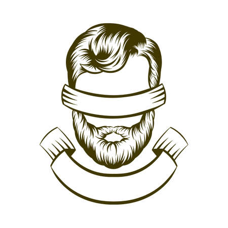 hair style: drawing hipster hair style design. illustration