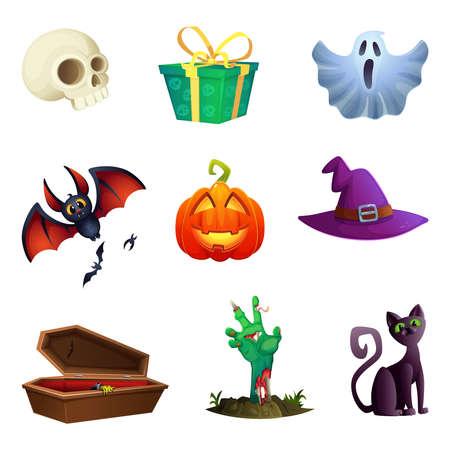 Halloween symbols collection